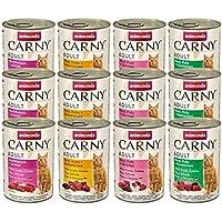 animonda Carny Adult Katzenfutter, Nassfutter für ausgewachsene Katzen, Mix 2, 12 x 400 g