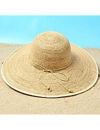 Cappello ZHIRONG Spiaggia Outdoor da Donna Cappellino Estivo da Sole Casual  Moda da Donna Beige Verde 06571596c115