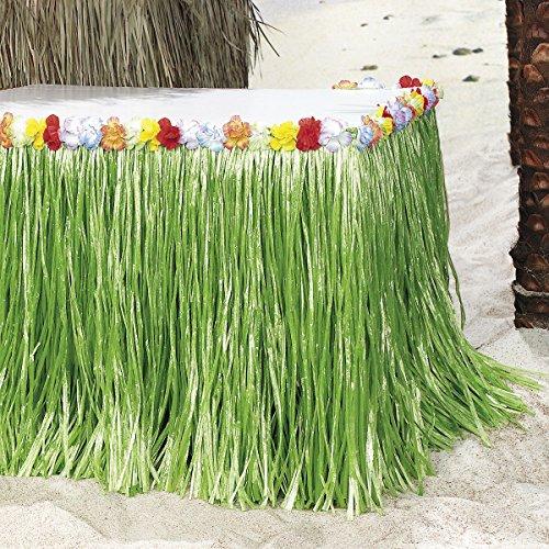 Tischumrandung für Hula Hawaii Beachparty mit bunten Blumen