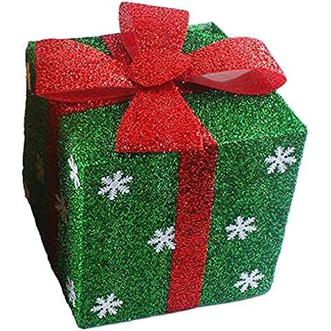 Natale Confezioni Regalo Carta Scatole Decorative per Centro Commerciale e Albero di Natale Scatola di Immagazzinaggio - Verde,20cm