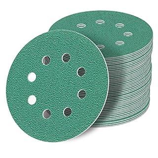 125 mm green Exzenter Schleifscheiben Sortiment SET 50 Scheiben P2000 P1500 P1200 P1000 P800, 8 Loch Klett Schleifpapier