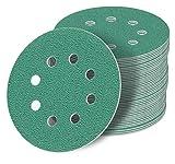 125 mm green Exzenter Schleifscheiben, passend für Bosch DIY PEX 220 A Sortiment SET 50 Scheiben P2000 P1500 P1200 P1000 P800, green Film