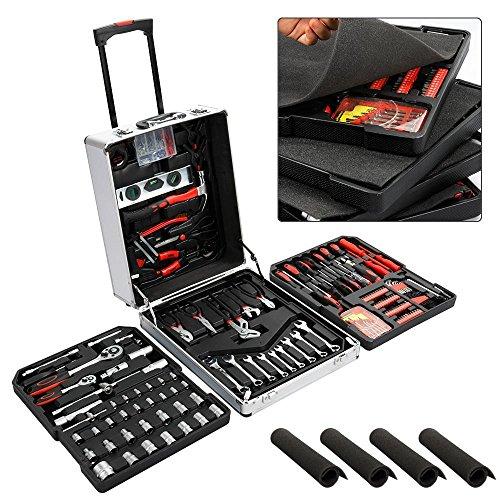 Yahee Werkzeugkoffer Werkzeug Set 799-teilige Universal Werkzeugsatz im praktischen Koffer mit frei Handschuhe