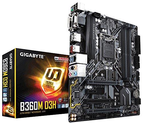 Gigabyte b360m D3H Sockel 1151/H370/DDR4/S-ATA Motherboard–Schwarz