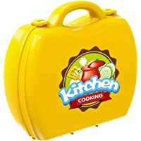 Yashi Kitchen Set with Suitcase, Easy to Carry, Bring Out The Best Chef Out of Your Kids, Yellow Color 26 Pieces