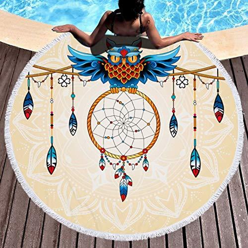 Kanmeipp asciugamani da bagno bohemian beach towel stampa tropical plants beach towel microfiber round fabric soggiorno decorazione k