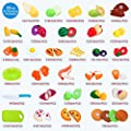 Food Toys,32 PCS Kitchen Pretend Play Food for Baby Kids Cutting Toys Plastic Fruit Playset By Soni Toys