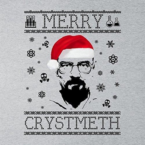 Breaking Bad Heisenberg Merry Chrystmeth Christmas Men's Vest Heather Grey