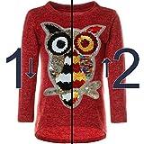 BEZLIT Mädchen Pullover Pulli Wende-Pailletten Sweatshirt Vogel Motiv 21601 Rot Größe 116 Test