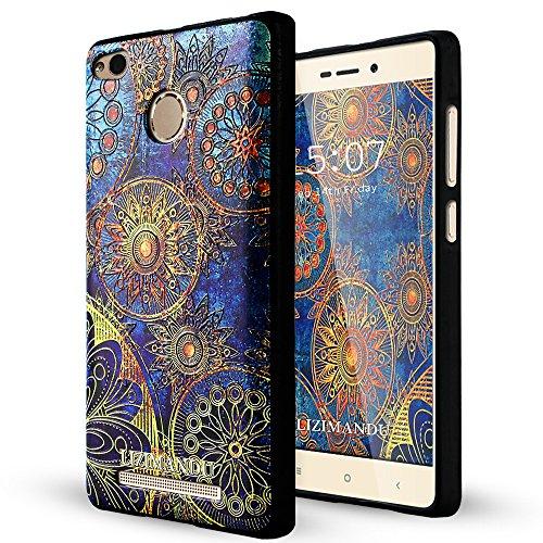 Xiaomi Redmi Note 3 Pro Funda,Lizimandu 3D Patrón Protectiva Carcasa de Silicona Gel TPU estrecha Case Cover Para redmi note 3 pro(Flor Azul/Blue