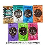 Probierpaket David Rio Chai Latte - 7 Sorten in 14 Portionsbeuteln 336g