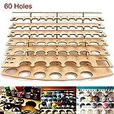 Caveen 60 Pots Holes Paints Stand Wooden Ladder Paint Tray Brush Holder Paint Bottle Storage Rack Modular Organizer - 5 Layer