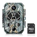 """ENKEEO Cámara de Caza Vigilancia 20MP 1080P, Tarjeta SD 32GB incluida, 45pcs IR LEDs Visión Nocturna hasta 20m, IP66 Impermeable, 2.4""""LCD Pantalla, 108° Ángulo de Visión, 0.2-0.6s Tiempo de Activación"""