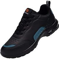 DYKHMILY Chaussure de Securite Femmes Legere Coussin d'air Basket de Sécurité Embout Acier Protection Confortable…