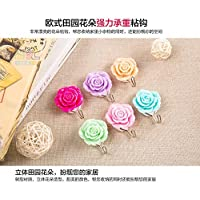 Generic FREE SHIPPING2pc/lot After the Rose Garden flowers sticky resin coat hooks door hooks strong 3M adhesive