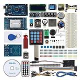 haljia Project Ultimate Starter Kit für Arduino Uno r3Mega2560Nano Robot mit MEGA2560Board, Temperatur Luftfeuchtigkeit, Herzfrequenz Sensor, RFID, Wasser Level, LCD1602, Relais, Ultraschall.