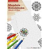 Mandala Notizblock, 3er Set mit verschiedenen Designs, Malbuch für Erwachsene, Malblock, DIN A5