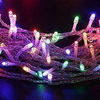 Catena Luminoso, MAXINDA (20 Metri, 200xLEDS) Luci a LED EU Spina Luci Natalizia con Controller 8 Funzioni Ideale per Natale Compleanni Feste (Multi-Color)