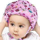 IULONEE babyhelm hoofdbescherming peuter beschermhoed katoen verstelbare veiligheidshelm (voetbalblauw)