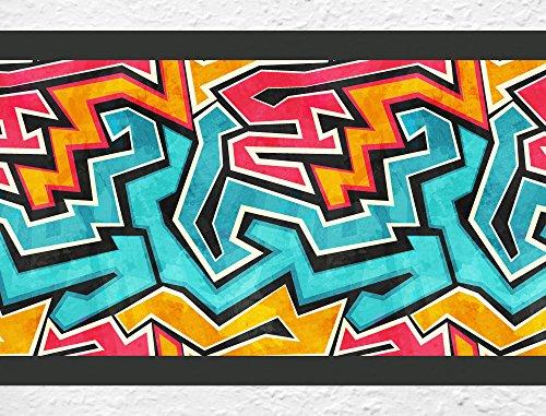 I-love-Wandtattoo b-10180 Kinderzimmer Bordüre Graffiti Junge Mädchen Wanddeko Wandaufkleber Wandsticker Wandtattoo