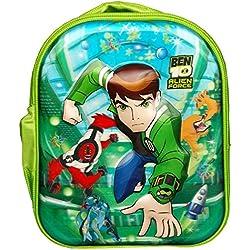 Worldcraft 5D Ben 10 13 inch Green Waterproof Children's Backpack (Pre School)