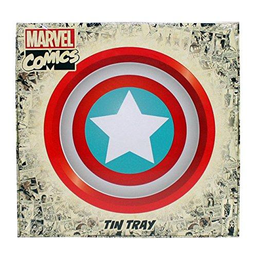 Marvel Tablett Captain America Schild, aus Blech, 35x 2,5 cm - 2