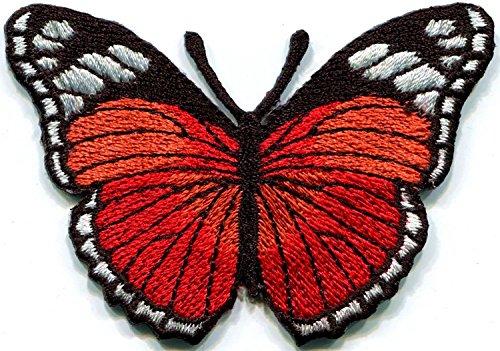Rot Schmetterling Insekten Boho Hippie Retro Love Peace bestickt Aufnäher Patches Applikation (Diy Boho Hippie Kostüm)