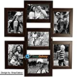 Snapgalaxy Seven Photo Collage Frame, Br...