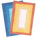 Saral Home Soft Cotton Anti Slip Bathmat (Pack of 2, 40x60 Cm)