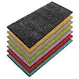 Teppich Läufer Luxury | moderne Shaggy Optik mit flauschigem Hochflor | Teppichläufer in vielen Farben für Flur, Schlafzimmer, Wohnzimmer etc. | viele Breiten und Längen (66 x 150cm, anthrazit)