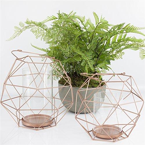 Tamia-Home 2er Deko Windlichter Teelichthalter Kerzenhalter Copenhagen Metall