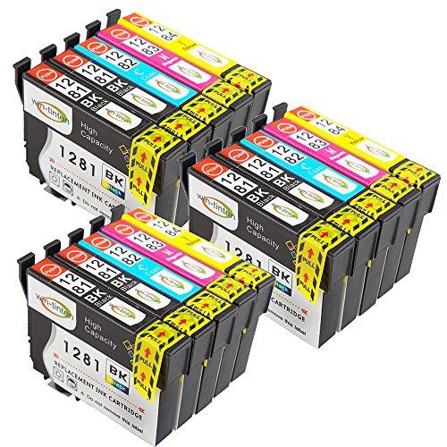 Win-Tinten 15 T1281-T1284 Kompatible Druckerpatrone als Ersatz für Epson Stylus SX435W SX125 SX425W SX440 SX130 S22 SX235W Tintenpatronen mit Chip