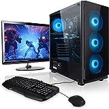 "Pack Gaming - Ordenador Gaming PC AMD Ryzen 5 2600 • 24"" Monitor • Teclado y ratón Gaming • GeForce GTX1050Ti 4GB • 16GB RAM"
