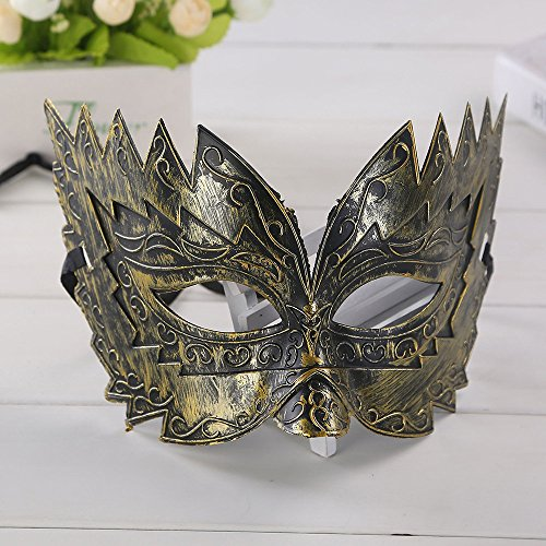 de Maske Halloween Ausgeschnitten Prom Party Maske Zubehör (Gold) ()