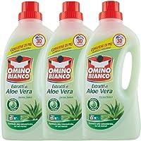 Omino Bianco Detersivo Lavatrice Liquido, Fresco Profumo con Essenza di Aloe Vera, 90 Lavaggi, 1500 ml x 3 Confezioni