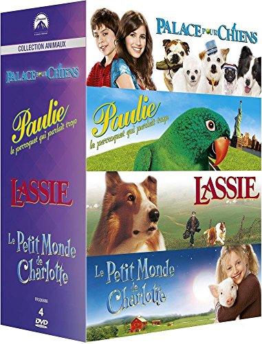 Paramount Collection Animaux: Palace pour chiens + Paulie le perroquet qui parlait trop + Lassie + Le petit monde de Charlotte