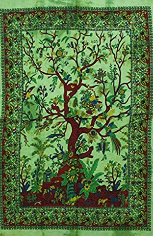 Indian Wall Hanging Cotton Boho Tapestry Poster Size Décor Throw 42 x 30 Inches (Posters (38))