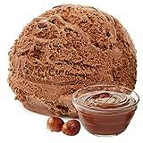 Nuss Nougat Creme Geschmack 1 Kg Gino Gelati Eispulver Softeispulver für Ihre Eismaschine