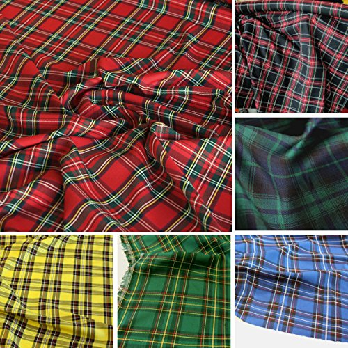 TOLKO Modestoff/Dekostoff kariert | Tartan Schotten-Karo Stoff | Schottland Klassiker zum Nähen und Dekorieren | Blickdicht, knitterarm | 150cm breit - Meterware - Kostüm Schwarzen Und Weißen Streifen