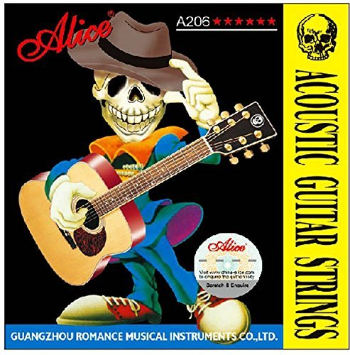 Mustang Acoustic Alice 206 Guitar String (6 Strings)  available at amazon for Rs.143