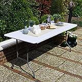 Vanage Gartentisch aus Kunststoff, Klappbar, off-white - 2