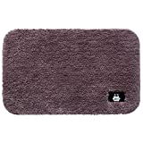 KK&MM Pure Farbe Velvet Foot Pad Home Wohnzimmer Schlafzimmer Bett Teppich Badezimmer saugfähige Matte, E, 50*80