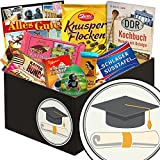 Zur Promotion | Schokolade Box | Geschenkbox Zur Promotion | Präsentkorb Schokolade | Geschenk Promotion Doktor | inkl. DDR Kochbuch