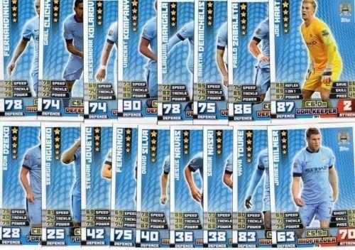 Match Attax 2014/2015 Manchester City 17 Base 14/15 Card Team Set by ToyMarket