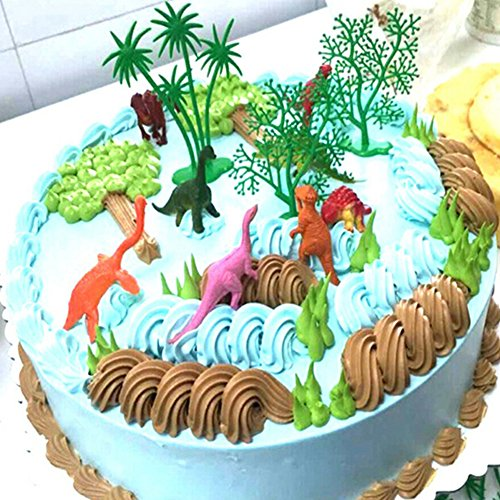 display08 16/Set Funny Jungle Dinosaurier Kuchen Ornaments Kinder Geburtstag Party Dekoration Multi