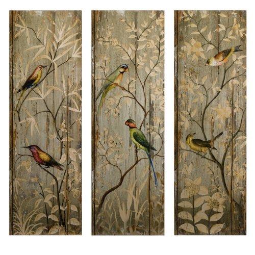 imax-calima-bird-wall-decor-multi-colour-set-of-3