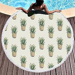 SHASHA Toallas De Playa Redondo Pequeña Piña Toalla De Playa Arena Proof Manta Arena Playa Mat Moda Beach Throw Tapiz Yoga Mat Picnic Mats