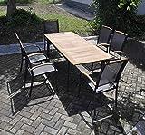 Gartentisch, Terrassentisch, Balkontisch, rechteckig, Metall, Holz, Aluminium, Teakholz, ausziehbar, massiv, Holz
