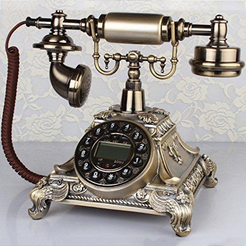 Garten-tasten (DSC Bürotelefon Europäische Retro-Massivholz Garten Haus Telefon Festnetz-Tasten Oder Drehtelefon ( Color : A ))