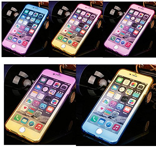 Sycode 360 Gradi Glitter Custodia per iPhone X,Full Body Bling Sparkling Cover per iPhone X,Stilosa Gradiente Colore Morbido Fronte Retro 2 in 1 TPU Silicone Gomma Gel Slim Anteriore E Posteriore Tras Gradiente Full Body Glitter Rosa Viola